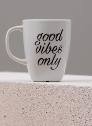 Morhipo Home Good Vibes Only - Çift Taraflı Kupa Beyaz